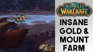 World of Warcraft Insane Mount And Gold Farm!! Captured Dune Scavenger Farm! (8.0)(8.0.1)
