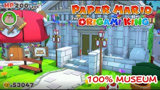100% Complete Museum Paper Mario The Origami King-  All Art, Treasure, etc
