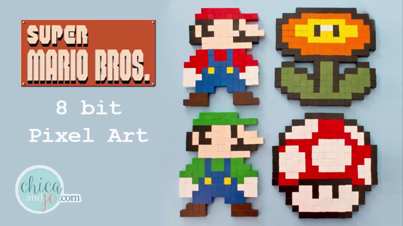 8 Bit Super Mario Brothers Pixel Art Tutorial Youtube