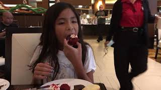 Trying Desserts at Pala/Casino Resort.