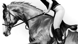 Speed Drawing - Horse Jumping