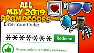 ALL NEW **MAY 2019** WORKING ROBLOX PROMOCODES!!!