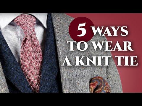 daf7bea3a883 5 Ways To Wear A Knit Tie — Gentleman's Gazette