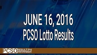 PCSO Lotto Results June 16, 2016 (6/49, 6/42, 6D, Swertres & EZ2)