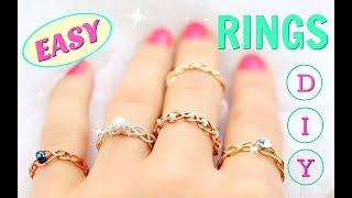 5 DIY rings | Adjustable & No Tools!!! | DIY Easy rings