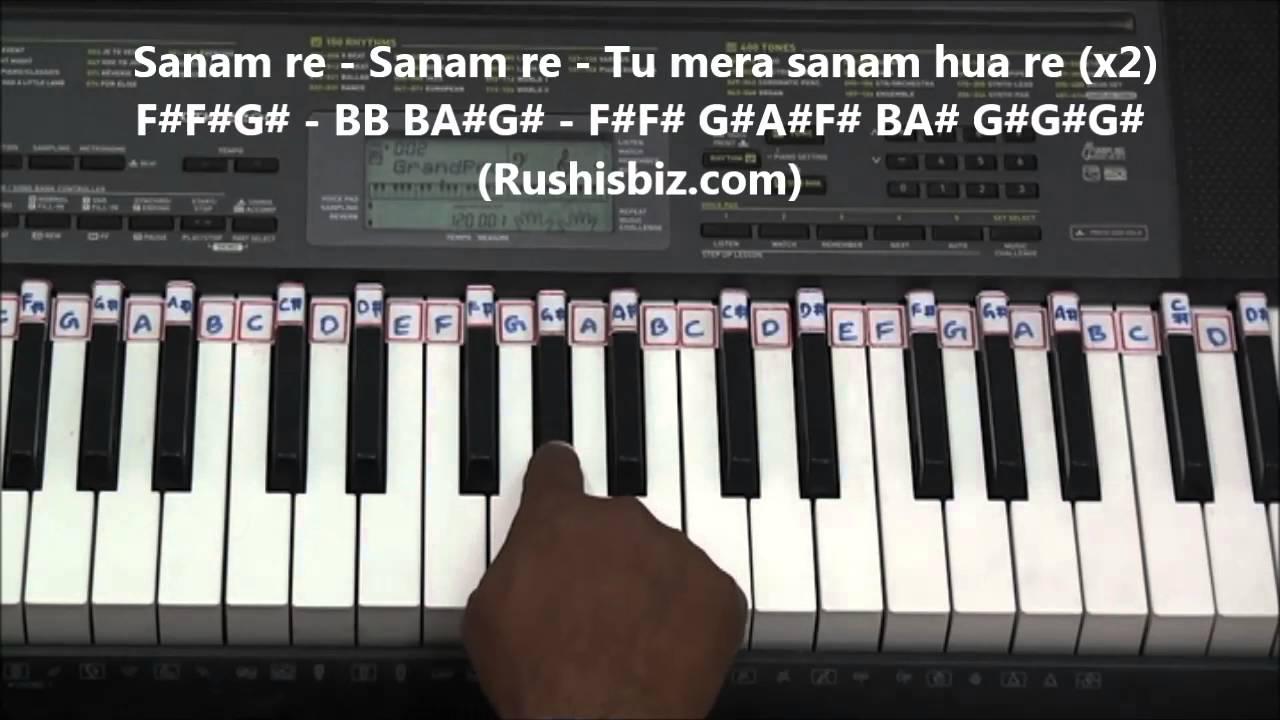 Sanam re piano tutorials title song | 7013658813 pdf notes.