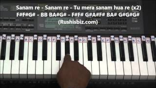 Sanam Re Piano Tutorials - Title Song | 917013658813 - PDF NOTES/BOOK - WHATS APP US
