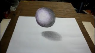 How TO Draw floating cube-3D art trick on line paper..