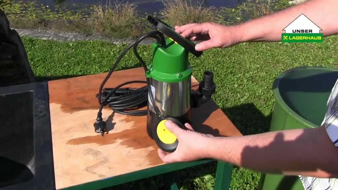 Beliebt Bevorzugt Drucktauchpumpe GDT 901: Wasser für den Garten - YouTube &IW_17
