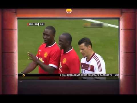 Dwight Yorke Goal   Manchester United vs Bayern Munchen Legends