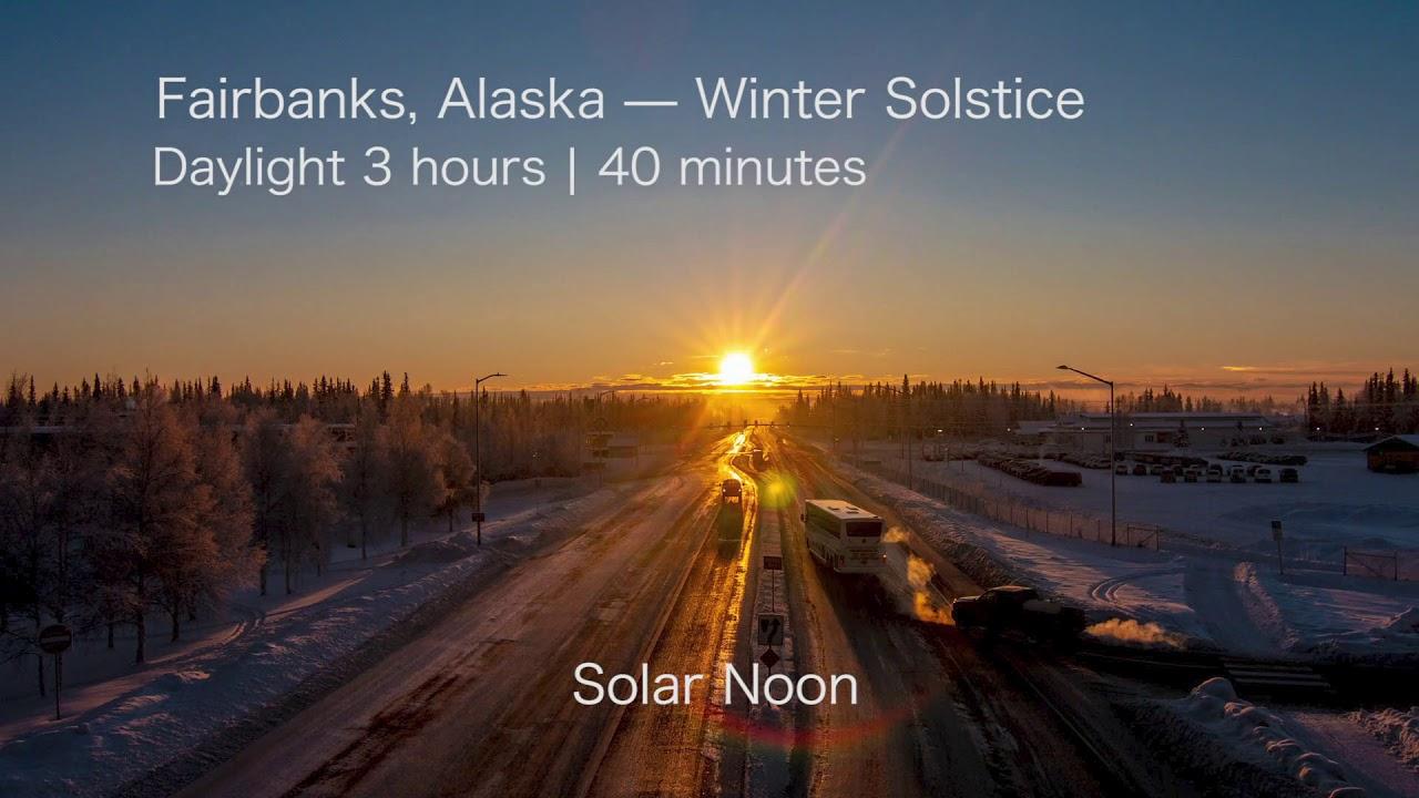 alaska winter solstice timelapse