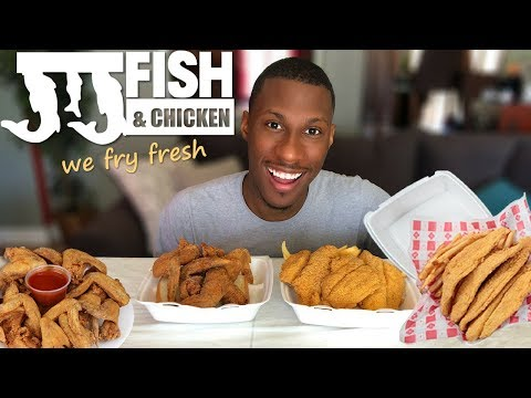MUKBANG | JJ FISH & CHICKEN | EATING SHOW