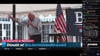 BERNIE SANDERS SPEECH WITH TWITCH CHAT (BERNIE STREAMS ON TWITCH)