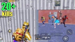 RUSHING 7 Enemies At Military Base | PUBG MOBILE