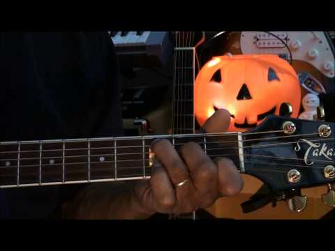 Guitar Strumming Pattern Tutorial #222 Halloween Monster Mash Style ...