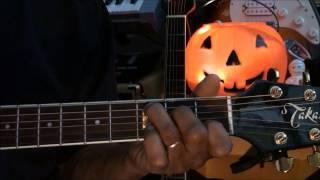 Guitar Chord Form Tutorial #222 Halloween Monster Mash Chords EricBlackmonMusicHD