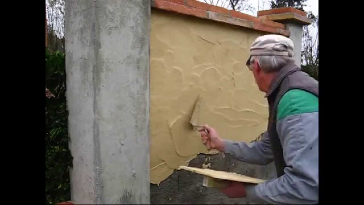 enduit traditionnel - youtube - Comment Enduire Un Mur Exterieur En Parpaing