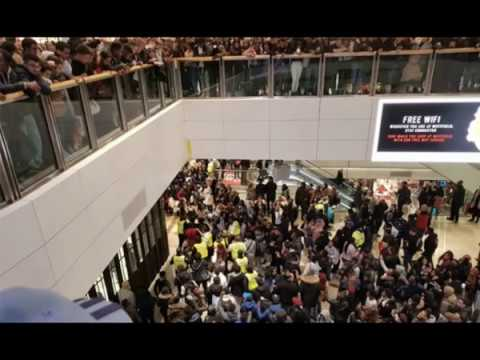 Boxing Day RIOT: Thugs clash in front of horrified shoppers in Stratford Westfield City