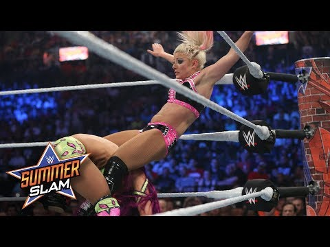 Sasha Banks sends Alexa Bliss crashing into the turnbuckle: SummerSlam 2017 (WWE Network Exclusive)