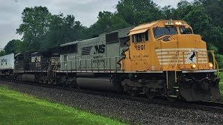 NS 20E w/ 1801 & Other Trains On The Lehigh Line