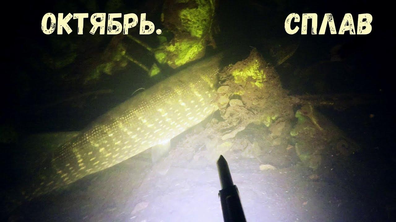 Подводная охота - Октябрь.Сплав