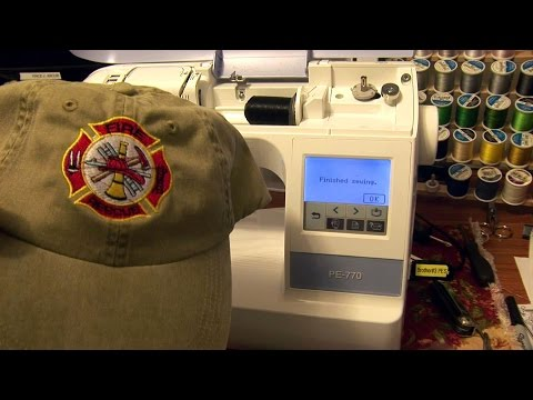 How to embroider a hat with a Brother PE-770-Also PE800 & SE1900