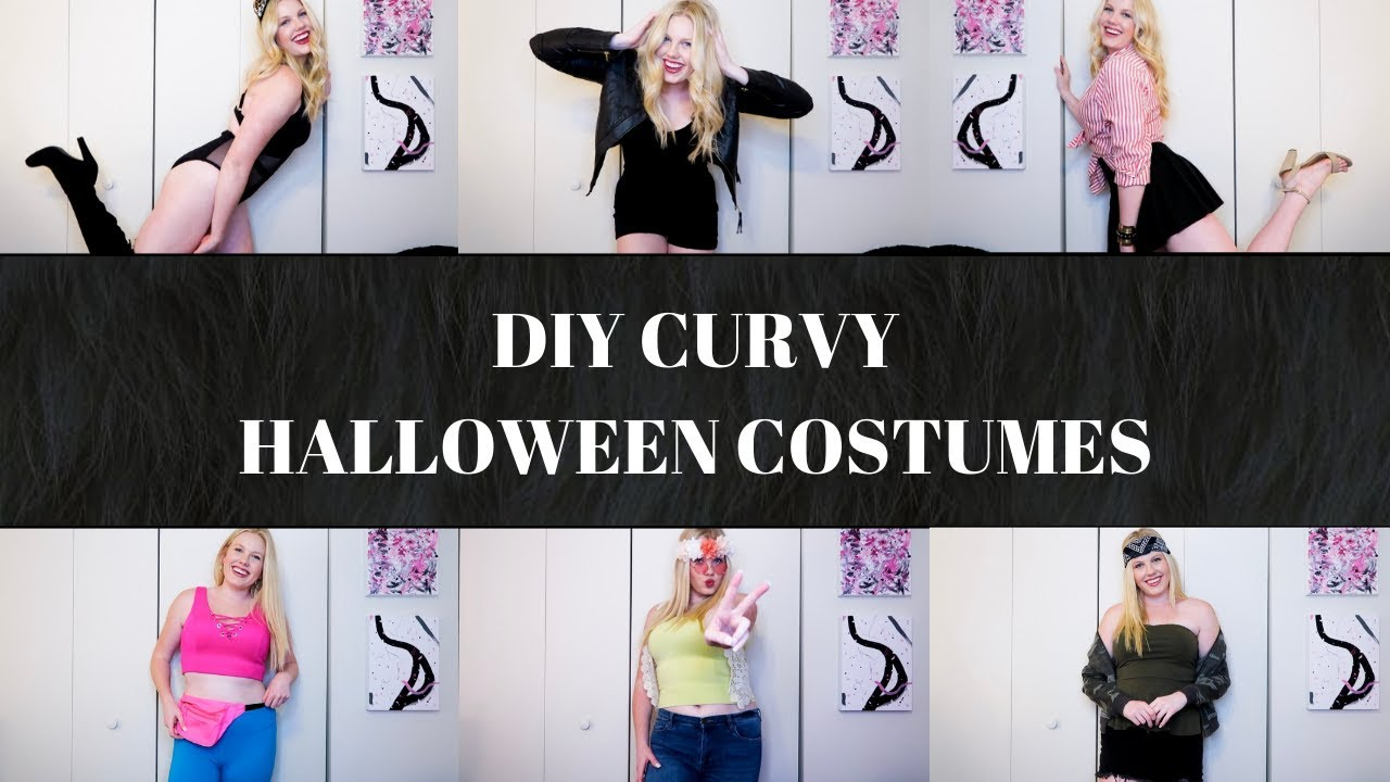 diy plus size halloween costume ideas | using clothes you already