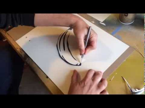 How to cut a stencil (simple two layer stencil)