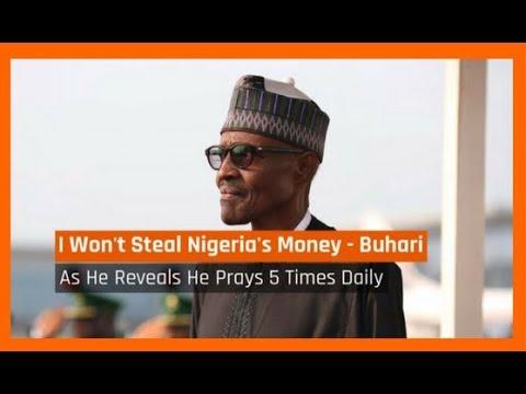Nigeria News Today: I Won't Steal Nigeria's Money; I Pray 5 Times Daily -  Buhari (26/12/2017)