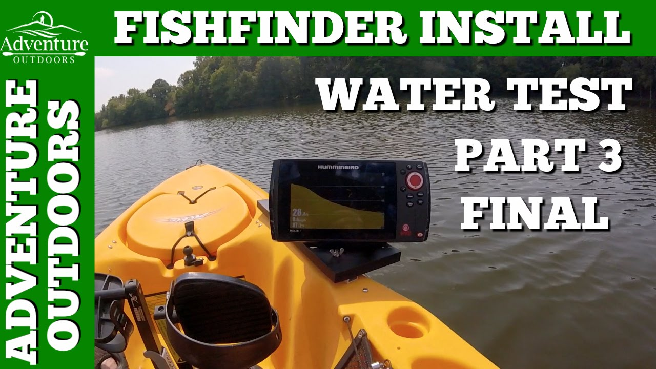 humminbird helix 7 si gps fishfinder install, water test ~ part 3, Fish Finder