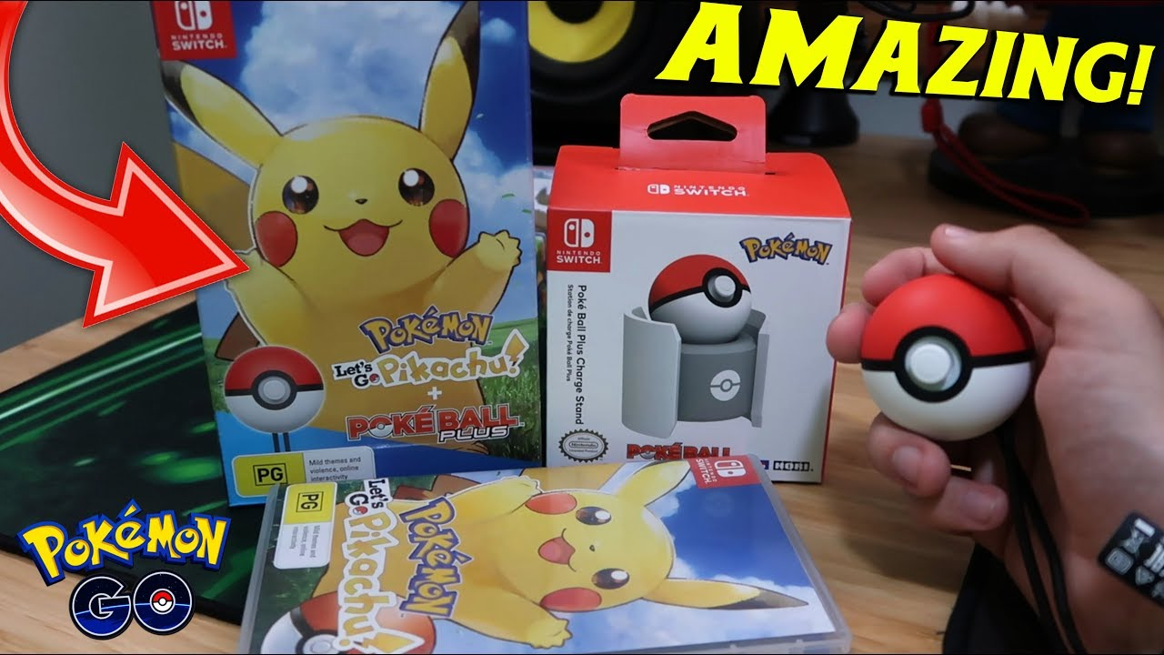 Pokemon Let S Go Pikachu Pokeball Plus Unboxing With A Hint Of