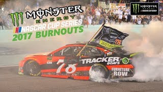 All 2017 NASCAR Monster Energy Nascar Cup Series Burnouts