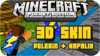 Minecraft PE 3D SKIN (Pelerin + Başlık) & BlockLauncher 1.8.6 PRO (Cape + Hat Layers)