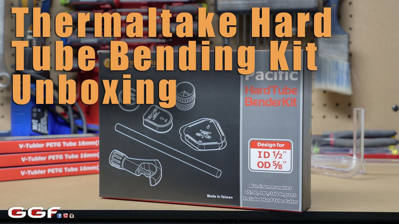Thermaltake Pacific DIY OD 16mm 5//8 1//2 x ID 12mm Water Cooling PETG Hard Tube Bending Kit CL-W093-AL00BL-A