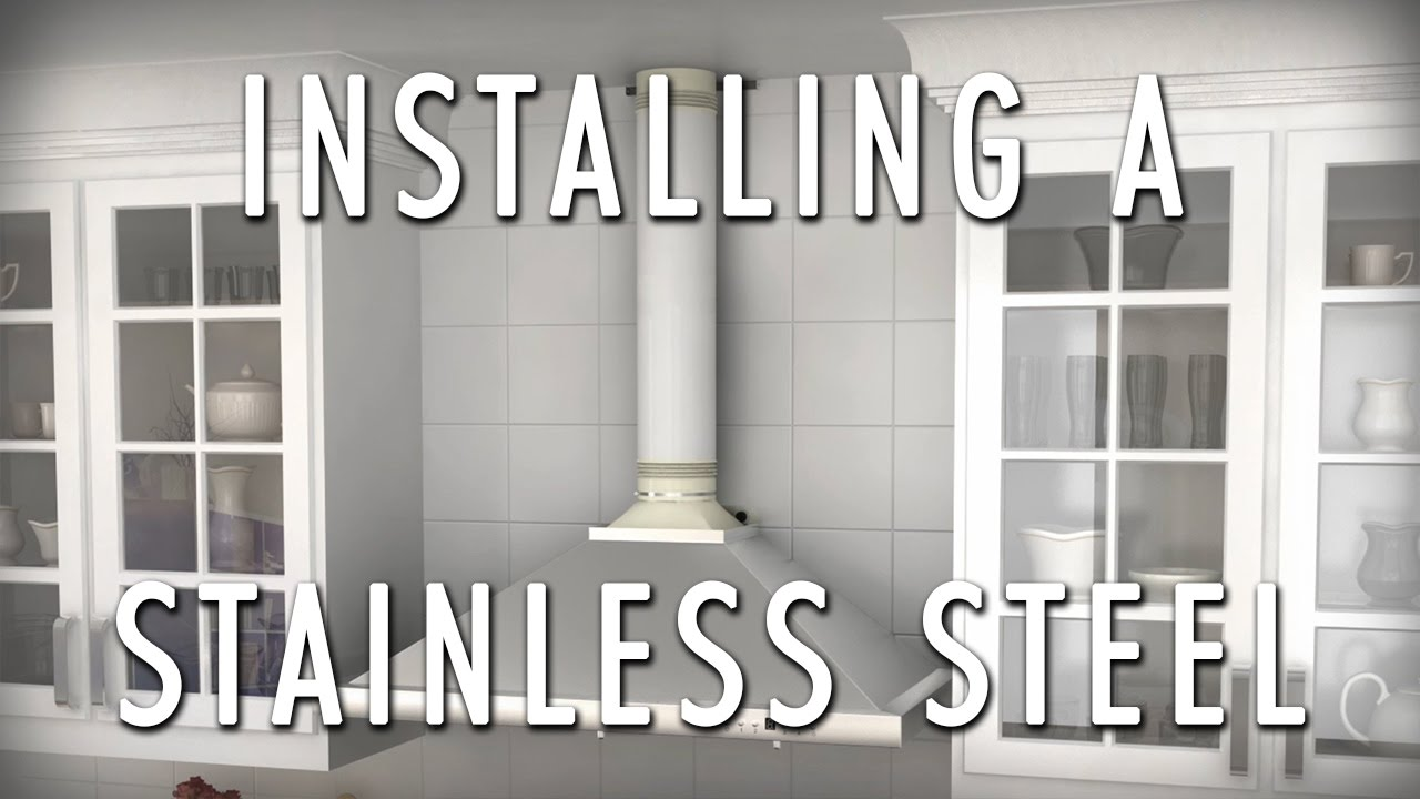 How To Install A Stainless Wall Range Hood   ZLINE Range Hood Installation