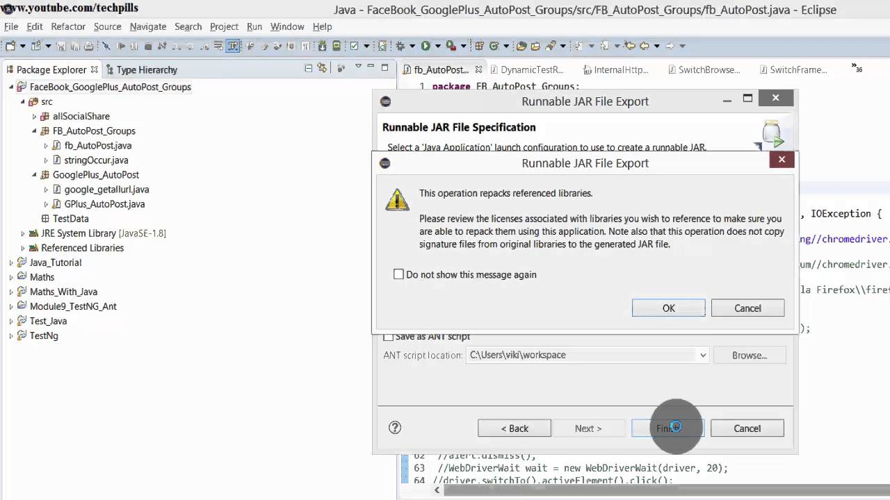 How to create executable jar file in java using eclipse?