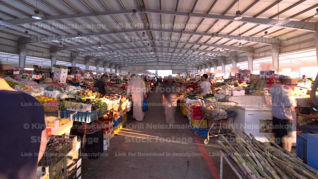 Fruit market in the emirate of Ajman timelapse  United Arab Emirates