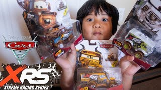 FIRST LOOK CARS 3 XRS! Disney Cars 3 Toys XTREME RACING SERIES Diecast MISS FRITTER ARVY MATER