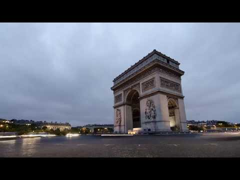 Time Lapse Arc de Triomphe City Paris HD