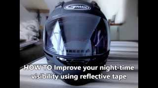 How to Increase Night Time Visibility   Motorcycle Helmet