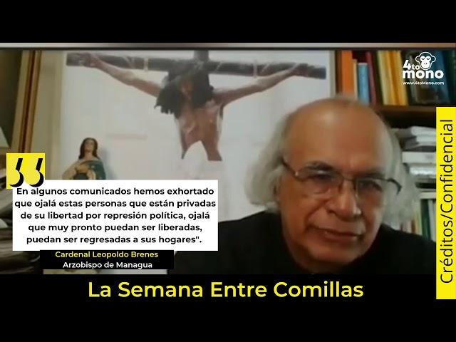 Cardenal Leopoldo Brenes aboga por los presos políticos