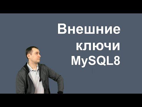 13. MySQL 8 - Foreign Keys   внешние ключи