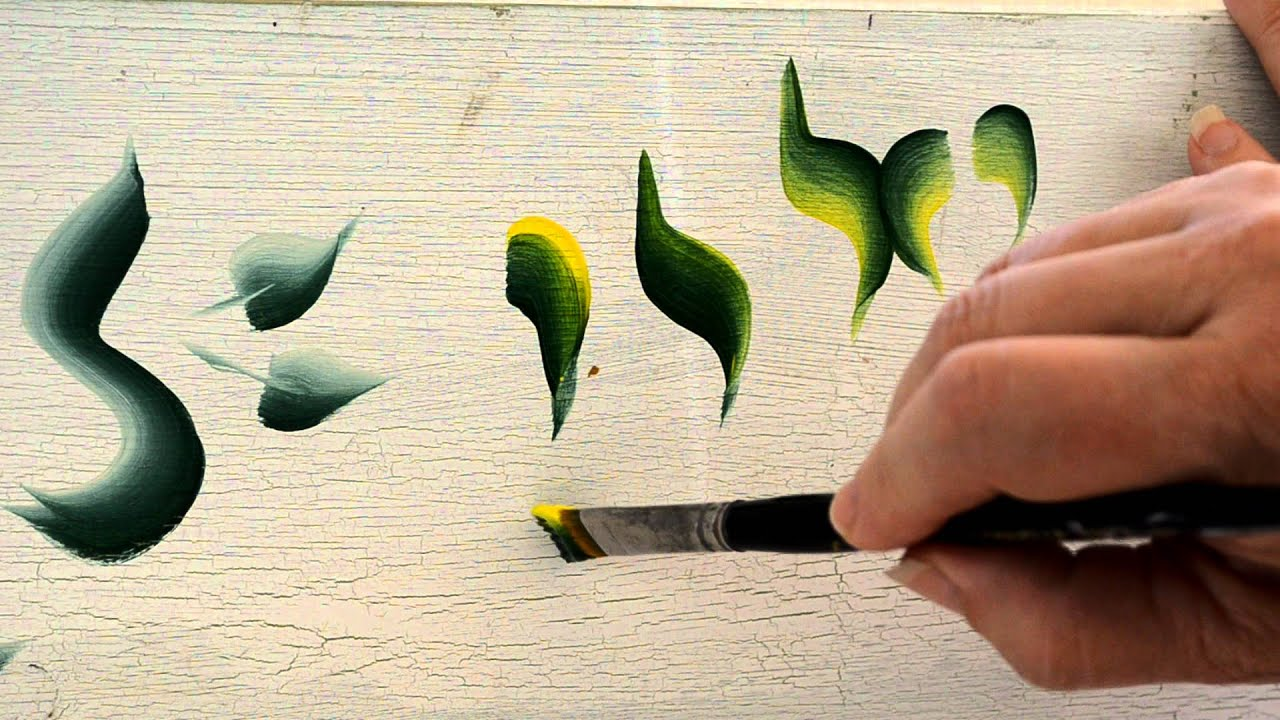 Basic strokes in decorative painting youtube for Basic painting