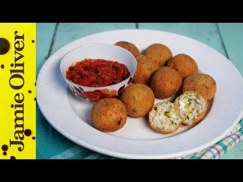How to make deep fried rice balls