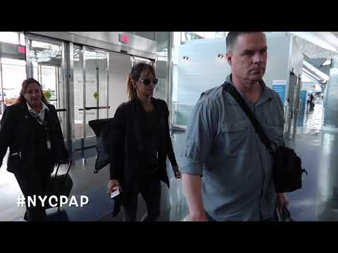 Halle Berry flies out of JFK airport