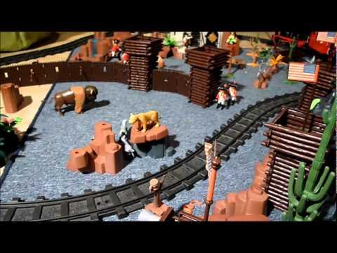 Playmobil western train youtube - Train playmobil ...