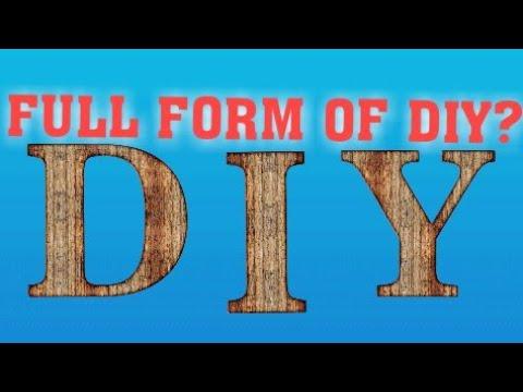 DIY ki full form