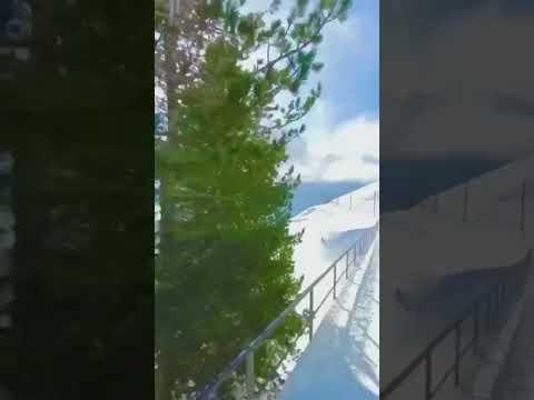 Train trip through the Swiss Alps