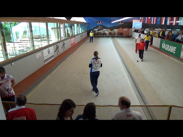 Полуфинал в Инсбруке: Екатерина Ерасова (Россия) против турчанки