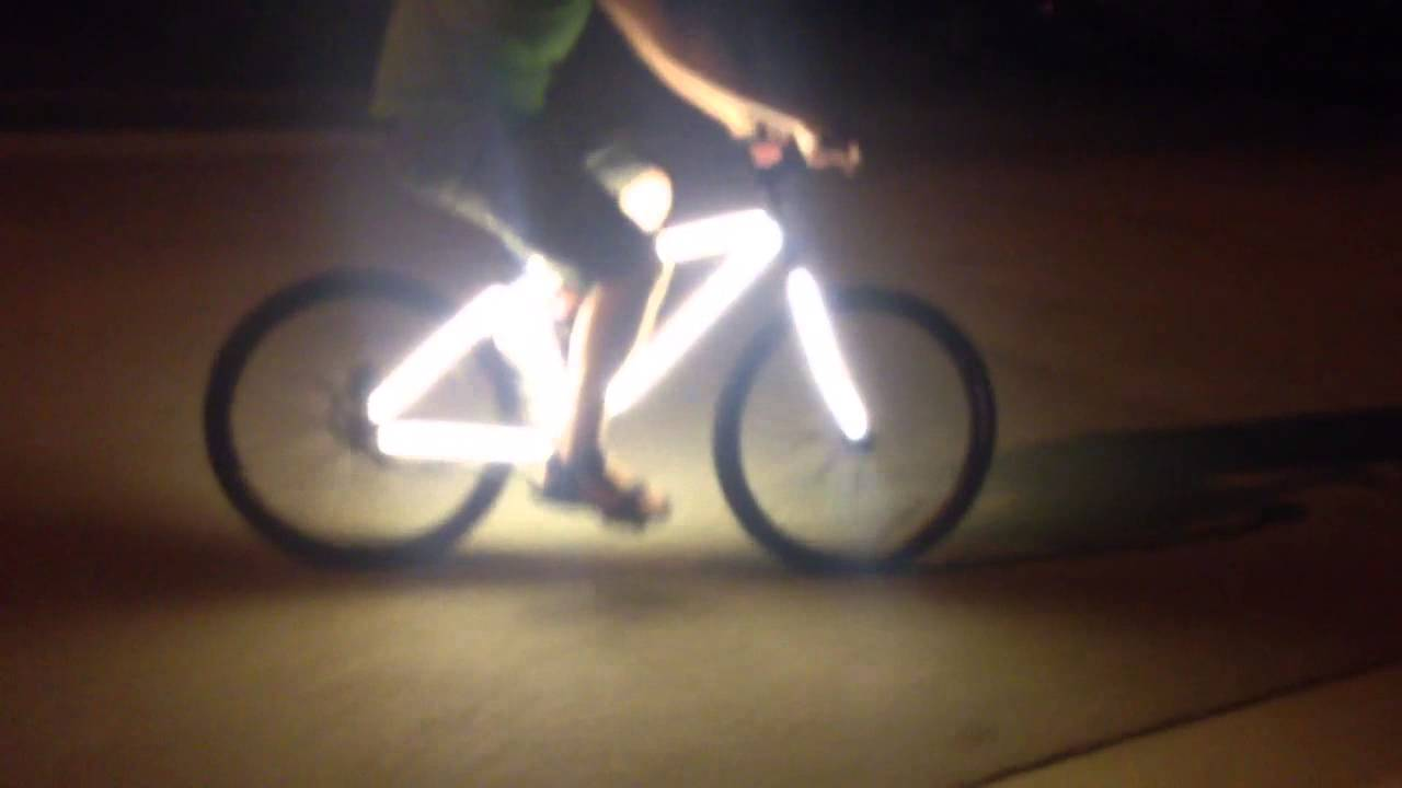 Led Light Up Bike Frame Youtube